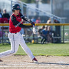 AMANDA SABGA/Staff photo<br /> <br /> North Andover's Justin Connolly connects while at bat during a game between Haverhill High School and North Andover High School at North Andover.<br /> <br /> 4/23/17