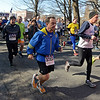 RYAN HUTTON/ Staff photo<br /> Boston Marathon Race Director Dave McGillivary heads down the opening stretch of the RRun for the Troops 5K on Whittier Street in Andover on Sunday.