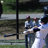 TIM JEAN/Staff photo<br />   <br /> Phillips Academy's Sam Conte, of Andover, drives the ball for a hit during a baseball game against Worcester Academy. 4/21/18