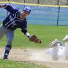 TIM JEAN/Staff photo<br />   <br /> Salem's Matt Soldano slides safe into second base for a stolen base during a baseball game against Nashua South High School.   4/24/18