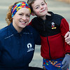 CARL RUSSO/Staff photo  Lisa Cordima of North <br /> Andover with her son Nathan, 6, wears her colorful headband designed with puzzle pieces, the most iconic and recognizable symbol of autism. <br /> <br /> Lisa Cordima of North Andover is running the Boston Marathon (now in September) for her son and the Doug Flutie Jr Foundation to battle Autism. 3/16/2020