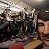 RYAN HUTTON/ Staff photo<br /> Statues of the Blues Brothers join a giant Elvis head at Deja Vu Furniture & More in Londonderry.
