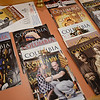 "RYAN HUTTON/ Staff photo<br /> Copies of the monthly Knights of Columbus magazine ""Columbia"" sit on a table in the Lawrence Knights of Columbus Council 67 hall on Andover Street."