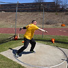 RYAN HUTTON/ Staff photo<br /> Masters weight thrower Rick Brown readies a discus throw at the Whittier Tech track on Sunday.