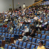CARL RUSSO/Staff photo. Plenty of empty seats at Andover's annual town meeting Monday night at the Collins Center. 4/30/2018