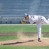 AMANDA SABGA/Staff photo<br /> <br /> Central Catholic pitcher Steve Hajjar pitches during a game between Central Catholic and Austin Prep at Trinity Stadium in Haverhill.<br /> <br /> 4/21/17