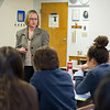 AMANDA SABGA/Staff photo<br /> <br /> Presentation of Mary Theology teacher Jane Richard, the recipient of this year's Archdiocese of Boston Excellence in Education Award, teaches in her Methuen classroom.<br /> <br /> 4/26/17