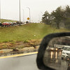 CARL RUSSO/Staff photo. Traffic backs up from the on ramp to Rt. 495 north, left and on the Marston Street exit ramp to Lawrence, mirror view, because of a crash around 5pm on Rt. 495 north after the double decker bridge in Lawrence.  4/25/2018