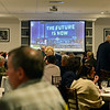 RYAN HUTTON/ Staff photo<br /> A crowd packs one of the function rooms to watch the NFL draft at the Stellato Sports Draft Party at the Ferncroft Country Club.