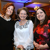 CARL RUSSO/Staff photo. Attending the event, From left, Jennifer Hogg of Plaistow, Michele Kayo of Londonderry and Jennifer Kelley of Methuen, all representing Northeast Rehabilitation Hospital in Salem.                                    <br /> <br /> The Greater Lawrence Family Health Center's annual making a Difference Gala was held Thursday night, April 12 at the Andover Country Club. Massachusetts Governor,	Charlie Baker was the keynote speaker. Lawrence Mayor, Daniel Rivera was this year's recipient of the Making A Difference award for his work on opioids and the homeless. 4/12/2018