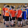 """RYAN HUTTON/ Staff photo<br /> Players from the Kids Coop Theater rehearse a scene from  """"Joseph and the Amazing Technicolor Dream Coat"""" at the Upper Village Hall in Derry on Sunday."""