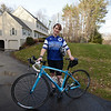 RYAN HUTTON/ Staff photo<br /> Windham Police Officer Terri Moore is riding - for the second year in a row - in the Police Unity Tour,  a gathering of police officers riding bicycles and motorcycles from New Jersey to a memorial for fallen officers in Washington, D.C.