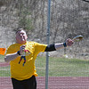 RYAN HUTTON/ Staff photo<br /> Masters weight thrower Rick Brown flings a discus at the Whittier Tech track on Sunday.
