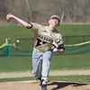 AMANDA SABGA/Staff photo<br /> <br /> Haverhill's Dallas Vaugh pitches during a game between Haverhill High School and North Andover High School at North Andover.<br /> <br /> 4/23/17