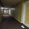 RYAN HUTTON/ Staff photo<br /> The hallways of the Bay State Building on Lawrence Street in Lawrence have been cleaned up and painted but a judge said on Wednesday that not enough repair work has been done on the building and continued the matter until May 2nd.
