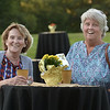 CARL RUSSO/staff photo. Elaine Forte, left and Maureen Sullivan Bly, both of Haverhill enjoy the event. The Winnekenni Foundation's 50th Anniversary Summer Wine and Cheese Reception was celebrated on Thursday Evening August 23rd. Over 100 people enjoyed the Castle's atmosphere and gorgeous flower gardens while listening to music by the Itchy Feet Jazz Band. The foundation honored special guests Lucine and Richard Goudreault  of The Goudreault Farm and Dean Bouzianis, first president of The Winnekenni Foundation for their dedication. 8/23/2018