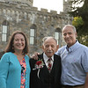 CARL RUSSO/staff photo. Honoree Dean Bouzianis, first president of The Winnekenni Foundation attends with family members including his daughter Elizabeth George of Newmarket N.H. and son Jim Bouzianis of North Hampton N.H. The Winnekenni Foundation's 50th Anniversary Summer Wine and Cheese Reception was celebrated on Thursday Evening August 23rd. Over 100 people enjoyed the Castle's atmosphere and gorgeous flower gardens while listening to music by the Itchy Feet Jazz Band. The foundation honored special guests Lucine and Richard Goudreault  of The Goudreault Farm and Dean Bouzianis, first president of The Winnekenni Foundation for their dedication. 8/23/2018