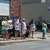 AMANDA SABGA/Staff photo<br /> <br /> National Grid employees protest as contract crews work on a gas leak on Winter Street near White Street in Haverhill. <br /> <br /> 7/10/18