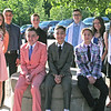 PAUL TENNANT/Staff photo<br /> <br /> <br /> Marsh Grammar School in Methuen graduated three set of triplets Friday evening. Pictured Seated at center, left to right: Wesley, Rylan and Austin Gangi. Standing at left: Elsa, Anthony and Kyle Ferullo. Standing at right: John, Kaitlyn and Mackenzie Tierney.