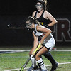 CARL RUSSO/staff photo. Central's captain, Madison DiPietro moves the ball. Andover defeated Central Catholic 3-0 in field hockey action. 10/01/2018