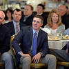 RYAN HUTTON/ Staff photo<br /> Methuen High's Seth Pare listens to keynote speaker, Boston Marathon Race Director Dave McGillivary, at the Eagle-Tribune Student Athlete of the Year awards banquet at Michael's Function Hall on Wednesday night.