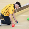 CARL RUSSO/Staff photo Referee, Ron Demers of Salem NH measures the distance between the bocce balls and the Pallino ball during a match.  <br /> <br /> Twenty two teams with 100 players participated in the 4th Annual Foster Kids of the Merrimack Valley Bocce and eight teams participated in first corn hole tournament on Saturday, April 27 at the Methuen Sons of Italy.  <br /> <br /> The event helps to support the Helene Giordano Memorial Scholarship Fund. Helene Giordano, who passed away in 1990, was Larry Giordano's foster mother. <br /> <br /> Two--$2,500 scholarships are given each year to young adults who are in or have been in foster care thru the Lawrence or Haverhill DCF, Department of Children and Families offices. 4/27/2019