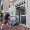 AMANDA SABGA/Staff photo<br /> <br /> New voting machines are delivered to Lawrence City Hall. <br /> <br /> 8/1/19