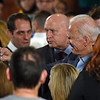 RYAN HUTTON/ Staff photo<br /> Former Vice President and presidential candidate Joe Biden takes a selfie with supporters at the Tupelo Music Hall in Derry, NH during a campaign stop on Monday.
