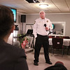MIKE SPRINGER/Staff photo<br /> Haverhill Police Chief Alan DeNaro listens to a member of the public Thursday night during a meeting on how to combat gang activity and crime in Haverhill.<br /> 12/5/2019