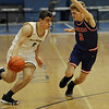 TIM JEAN/Staff photo <br /> <br /> Andover's Richie Shahtanian drives to the hoop against Londonderry's Alex Tsetsilas during the Commonwealth Motors Christmas Classic basketball tournament.   12/27/19