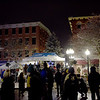 TIM JEAN/Staff photo <br /> <br /> Crowds start to gather in Washington Square to here holiday music before the lighting of the Christmas tree during the annual Christmas Stroll in Haverhill.   12/6/19