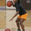 MIKE SPRINGER/Staff photo<br /> Senior Co-Captain Leandra Kwo participates in a drill using two basketballs during varsity practice Wednesday at Haverhill High School.<br /> 12/4/2019