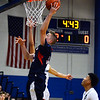 CARL RUSSO/Staff photo. Central's Anthony Traficante goes up for the basket. Lawrence high defeated Central Catholic 55-51 in the 7th. Annual Commonwealth Motors Christmas Classic basketball tournament. 12/27/2019