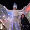 TIM JEAN/Staff photo <br /> <br /> Ariana Castiello, 15, of Methuen, poses for a photo with the Snow Queen during the Methuen tree lighting festivities at The Loop shopping center.   12/7/19