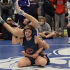 TIM JEAN/Staff photo <br /> <br /> Central's Jackie Dehney, lifts up Nashua South's Colby Spencer then breaks free for a point in the 120 pound final during the Salem Blue Devil Classic wrestling tournament. Dehney won 3-2.        12/14/19