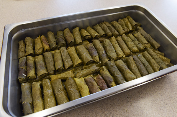 TIM JEAN/Staff photo <br /> <br /> Stuffed grape leaves for the Holiday Fair at St. Gregory Armenian Church of the Merrimack Valley in North Andover. The fair is Saturday, Dec.. 7, from 10 a.m. to 7 p.m. The fair will feature Armenian fare such as lamb shish kebab, losh kebab and chicken kebab dinners, kheyma and vegetarian dinners, available to both eat in or take out.   12/4/19