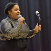 TIM JEAN/Staff photo <br /> <br /> Kelsy Duran, Voice & Music Together Instructor introduces her students during the KDuran Music Christmas concert at Esperanza Academy in Lawrence.      12/21/19