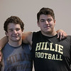 MIKE SPRINGER/Staff photo<br /> Haverhill High School discus and shot throwers Jonathan Quigley, left, and Brandon Grundy.<br /> 12/02/2019