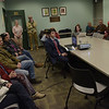 TIM JEAN/Staff photo <br /> <br /> About twenty residents came to the public meeting for a marijuana shop at the Haverhill Public Library. They group called Mellow Fellows plans to open at the site of the former Seafood Etc. on Amesbury Road near Rt 495. 12/11/19