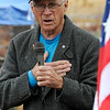 TIM JEAN/Staff photo <br /> <br /> Keynote speaker Air Force Veteran William Shuttleworth speaks during the Wreaths Across America remembrance day in Haverhill's Hilldale Cemetery.       12/14/19