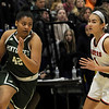 TIM JEAN/Staff photo <br /> <br /> Pentuck's Arielle Cleveland, left, drives to the hoop past Central's Claudia Porto during the Commonwealth Motors Christmas Classic basketball tournament. Pentuck defeated Central 38-36.  12/31/19
