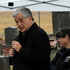 TIM JEAN/Staff photo <br /> <br /> Mayor James Fiorentini speaks during the Wreaths Across America remembrance day in Haverhill's Hilldale Cemetery.       12/14/19