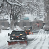 TIM JEAN/Staff photo <br /> <br /> Snowplows push the snow off of Carisbrooke St., Andover during the second half of a long-duration snowstorm. 12/3/19