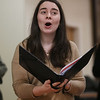 MIKE SPRINGER/Staff photo<br /> Allison Butler of Haverhill sings with the New England Classical Singers in a rehearsal Monday at South Church in Andover.<br /> 12/9/2019