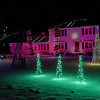 TIM JEAN/Staff photo <br /> <br /> Homeowner Brendan Sevin in Londonderry, NH., has his Christmas lights synchronized to music. The light show he calls Christmas in the Kings, is currently on display at 3 King Edward Drive in Londonderry, NH.    12/19/19