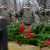 TIM JEAN/Staff photo <br /> <br /> Members of Haverhill High School Marine Junior ROTC salute as the National Anthem is played during the Wreaths Across America remembrance day in Haverhill's Hilldale Cemetery.       12/14/19