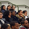 RYAN HUTTON/ Staff photo<br /> Students and community members listen during a discussion between Massachusetts Congresswomen Ayanna Pressley and Lori Trahan moderated by former State Representative and current COO of MassINC Juana Matias at Lawrence High School on Friday.