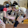 TIM JEAN/Staff photo <br /> <br /> Haverhill's Elijah Moncreif, right, wrestles against North Andover's Ethan Ford in the 132 pound match.     12/24/19