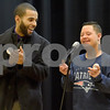 TIM JEAN/Staff photo <br /> <br /> Nicholis Cordon, 14, right, sings a holiday song on stage with Elvis Lora his mentor, during the KDuran Music Christmas concert at Esperanza Academy in Lawrence.      12/21/19