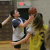 MIKE SPRINGER/Staff photo<br /> Sophomore Kya Burdier goes for a layup during varsity basketball practice Wednesday at Haverhill High School.<br /> 12/4/2019